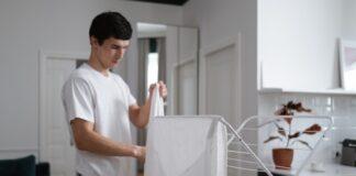 suszarka na pranie, suszarka na ubrania, suszarka na bieliznę, suszarka stojaca wysuwana